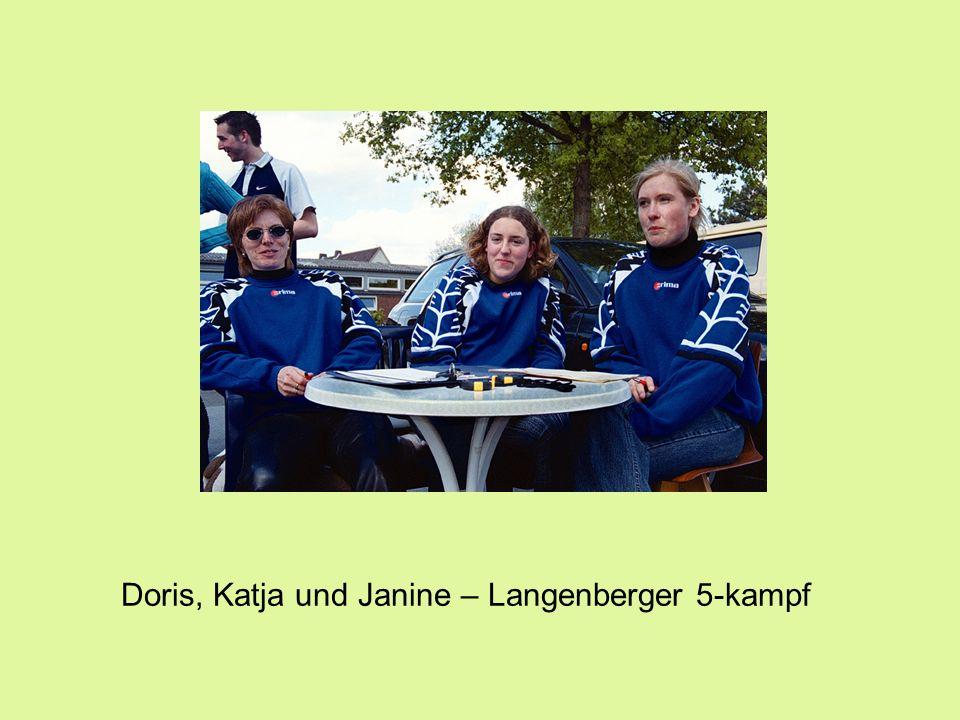 Doris, Katja und Janine – Langenberger 5-kampf