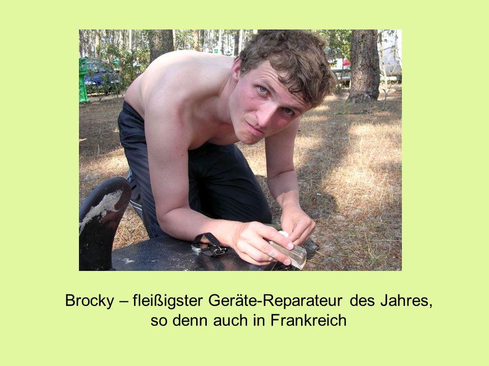 Brocky – fleißigster Geräte-Reparateur des Jahres, so denn auch in Frankreich