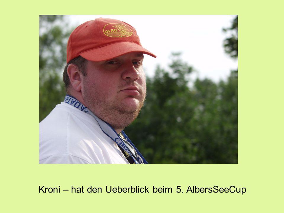 Kroni – hat den Ueberblick beim 5. AlbersSeeCup