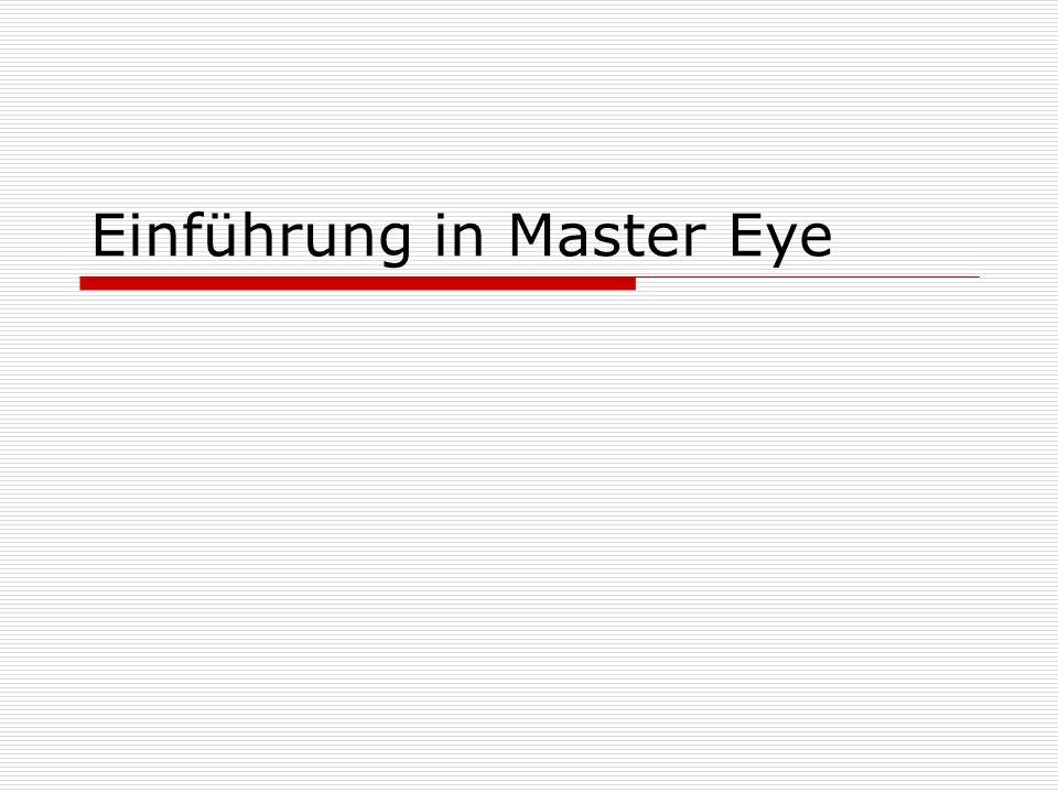 Einführung in Master Eye
