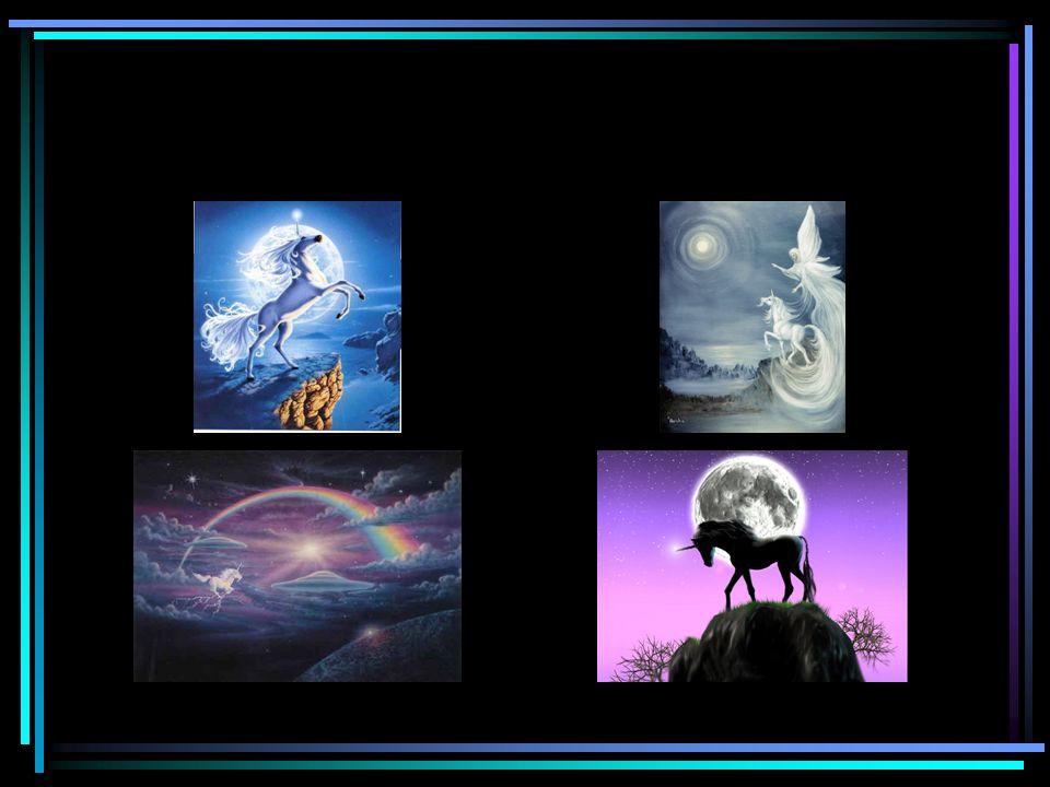 Es gibt die unterschiedlichsten Vorstellungen und Fantasien, was das Aussehen und Leben von Einhörnern angeht.