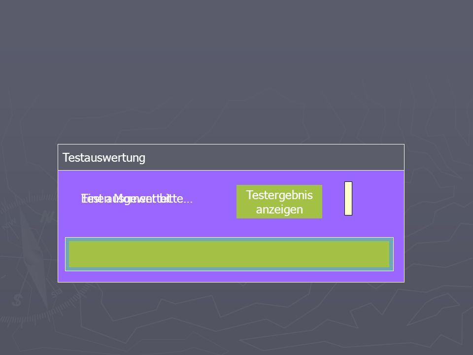 Testauswertung Einen Moment bitte…Test ausgewertet Testergebnis anzeigen
