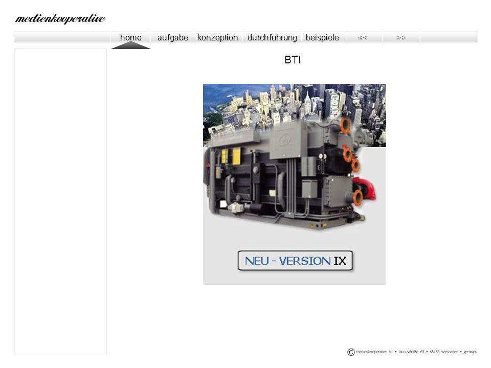 home home aufgabe aufgabe konzeption durchführung beispiele << << >> >> Internet CI / CD Bilderwelten Kundenzeitung Verkaufsfolder Symposium Internet Messen Showroom