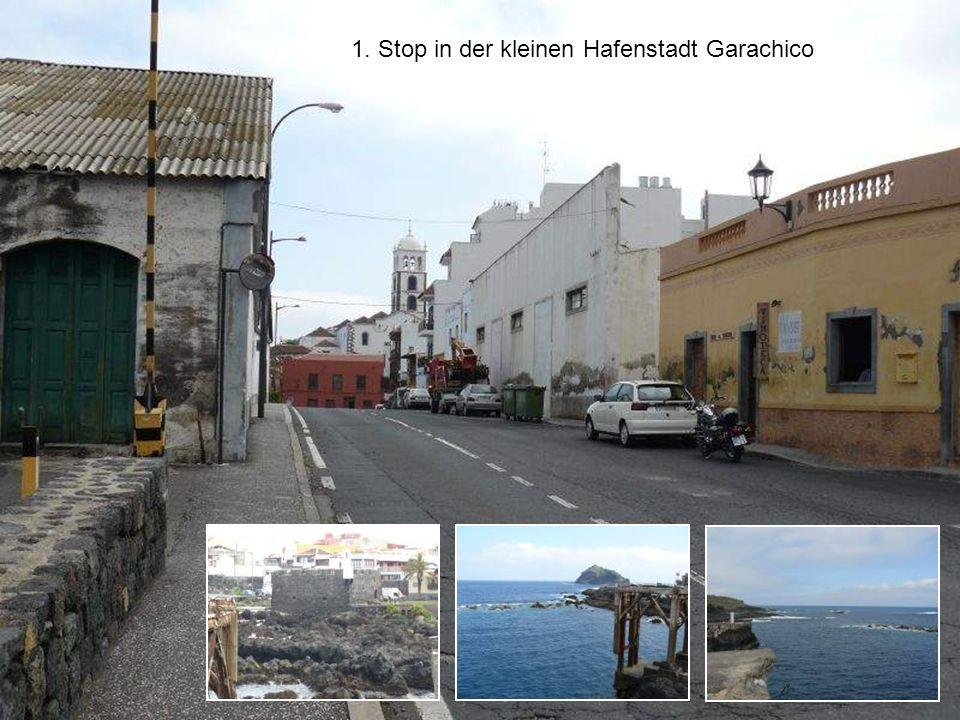 1. Stop in der kleinen Hafenstadt Garachico