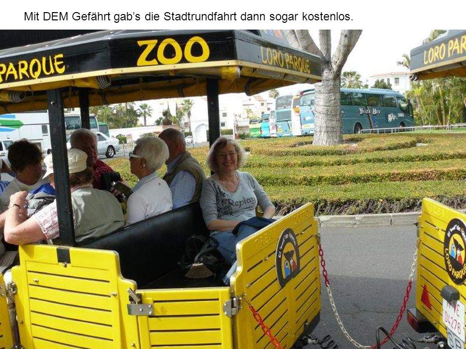 Mit DEM Gefährt gabs die Stadtrundfahrt dann sogar kostenlos.