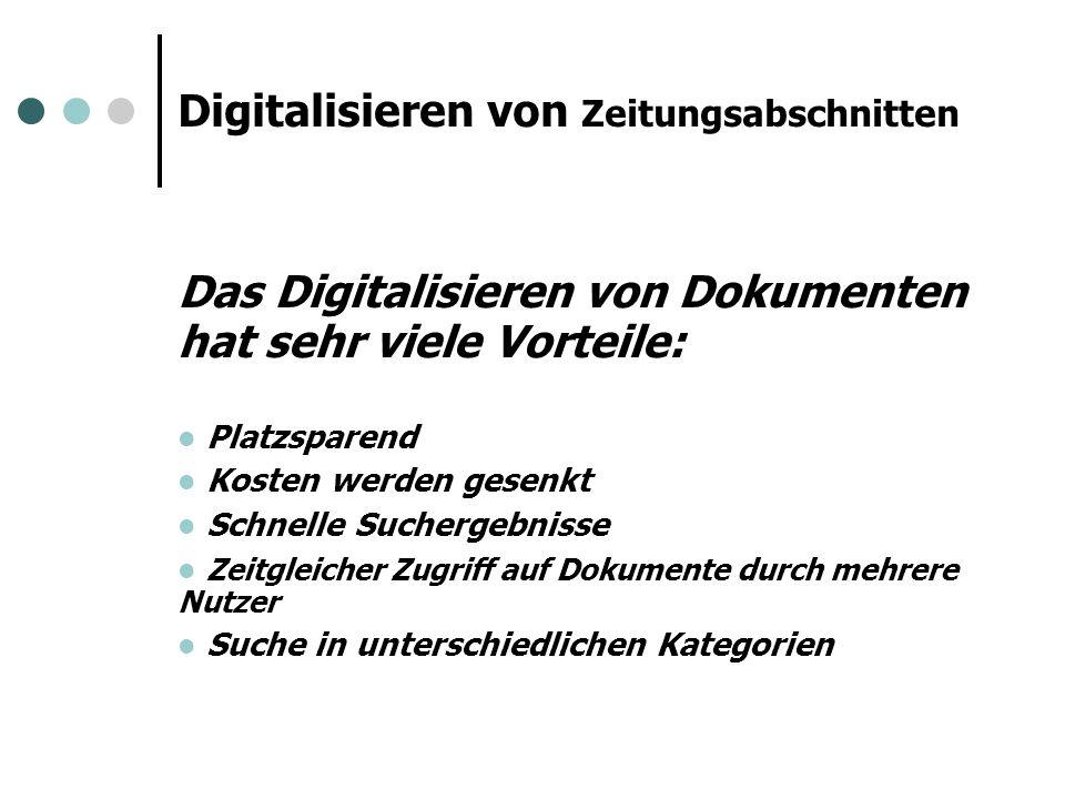 Das Problem trotz Digitalisierung...Können Sie bitte einen Artikel für mich heraussuchen….