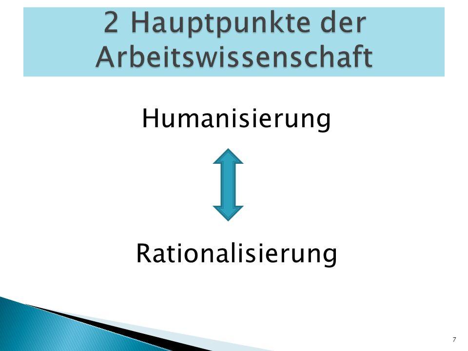 Humanisierung Rationalisierung 7