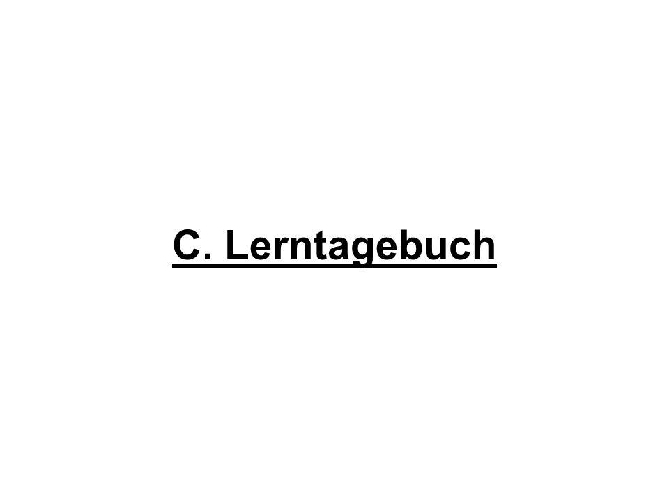 C. Lerntagebuch