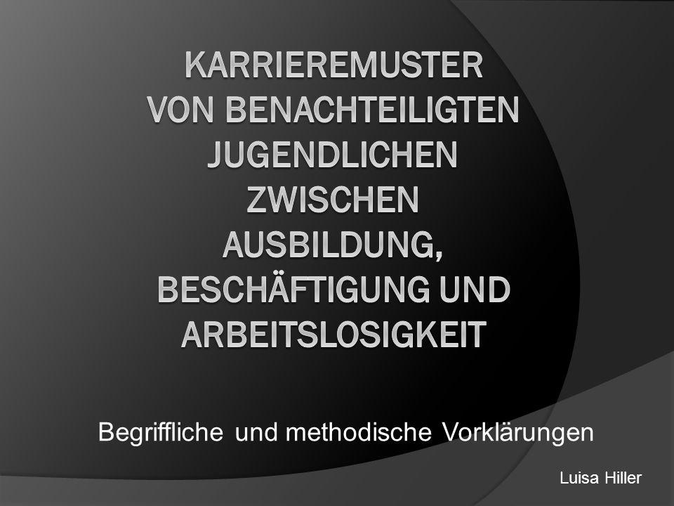 Literatur Friedemann, H.-J./ Schroeder, J.(2000): Von der Schule…ins Abseits.