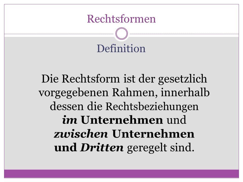 Entscheidung über Rechtsform : Wann?.