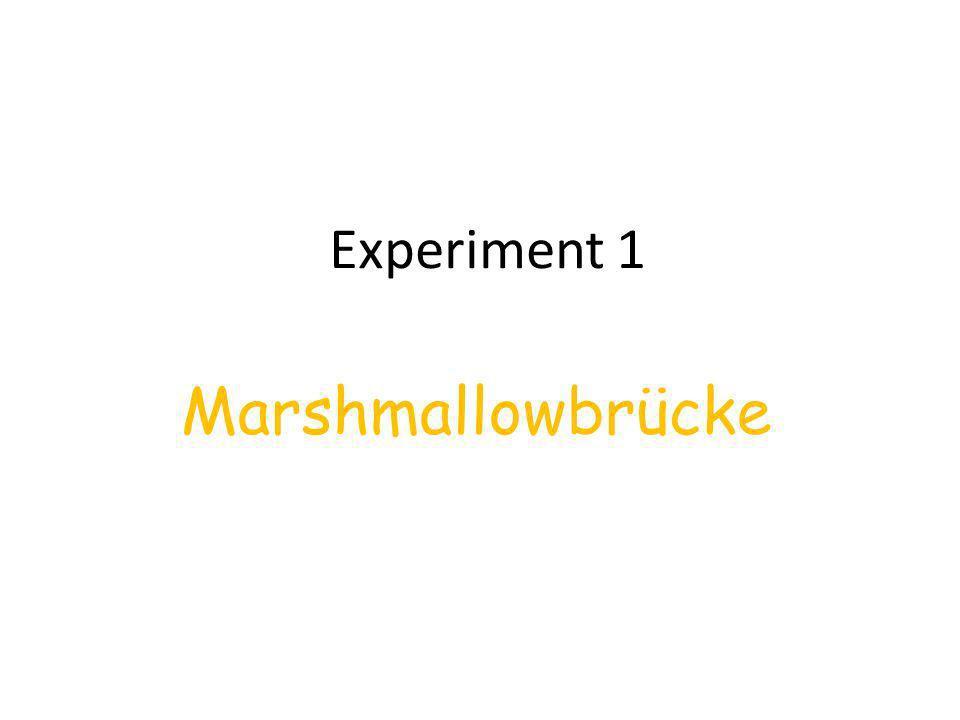 Materialien:- ausreichend Zahnstocher - eine große Packung Marshmallows -zwei Stühle -ein Buch