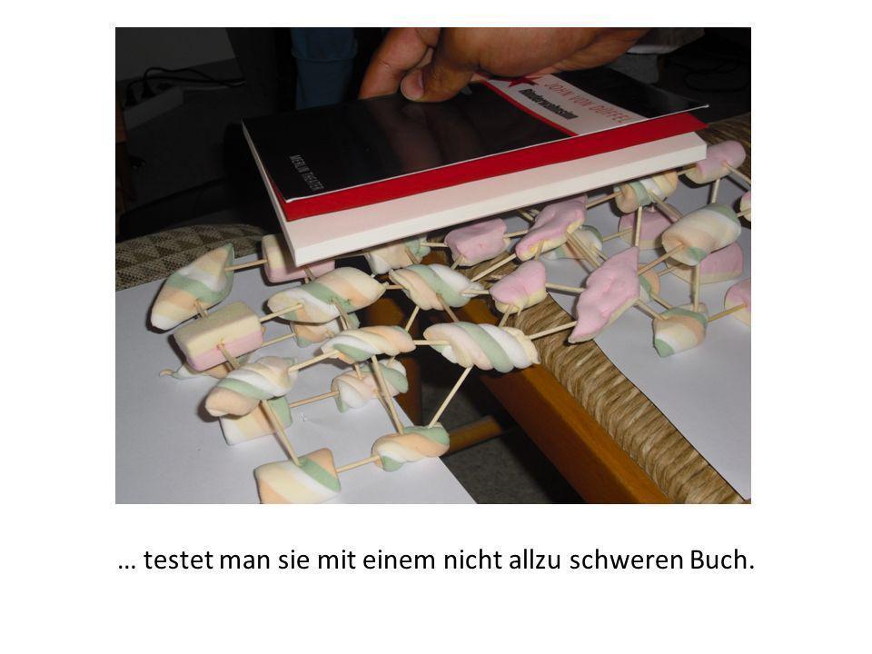 … testet man sie mit einem nicht allzu schweren Buch.