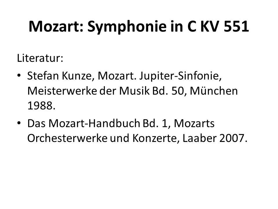 Mozart: Symphonie in C KV 551 Allegro vivace Exposition T.