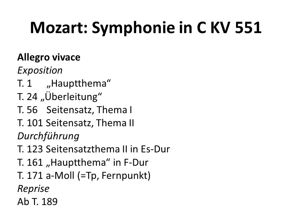 Mozart: Symphonie in C KV 551 Andante Cantabile Exposition T.
