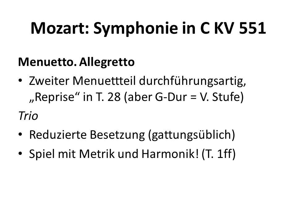 Mozart: Symphonie in C KV 551 Menuetto.