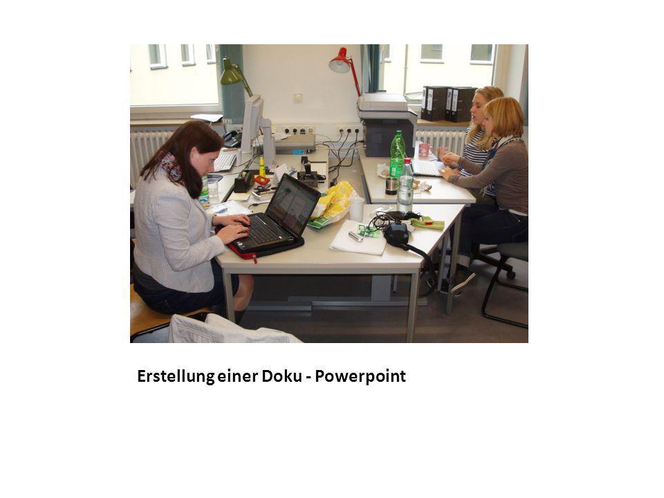 Erstellung einer Doku - Powerpoint