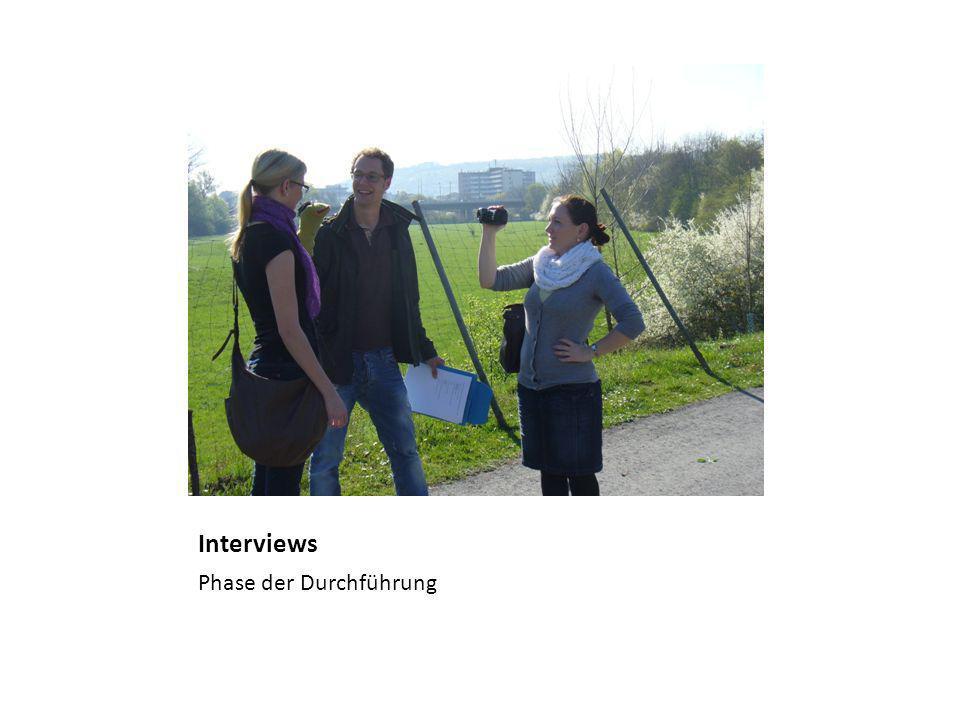 Interviews Phase der Durchführung