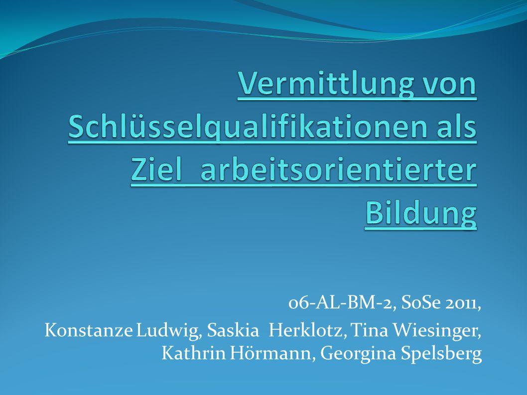 06-AL-BM-2, SoSe 2011, Konstanze Ludwig, Saskia Herklotz, Tina Wiesinger, Kathrin Hörmann, Georgina Spelsberg