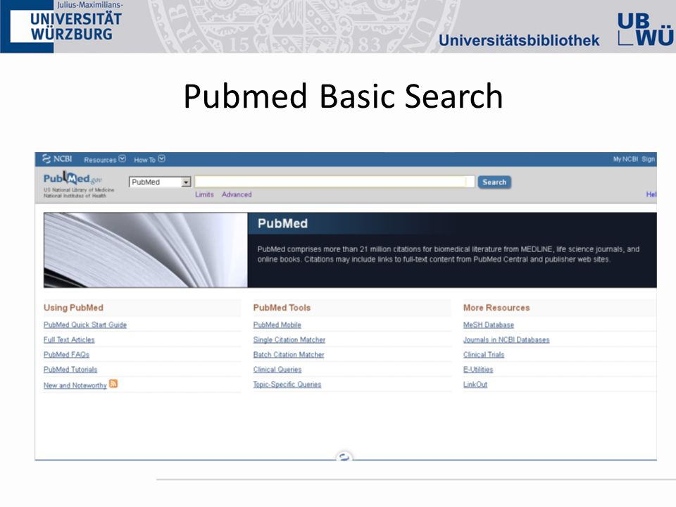 Pubmed Basic Search