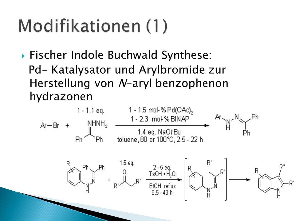 Fischer Indole Buchwald Synthese: Pd- Katalysator und Arylbromide zur Herstellung von N-aryl benzophenon hydrazonen