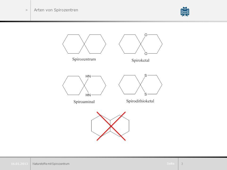 Seite Naturstoffe mit Spirozentrum3 16.01.2013 >Arten von Spirozentren