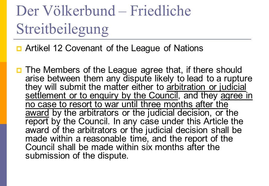 Rechtsnatur von Resolutionen nach Art.