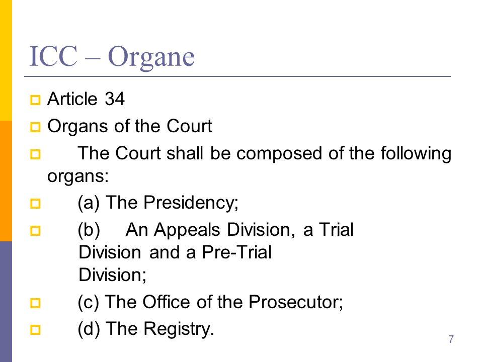 Fragmentierung IGH: gesamtes Völkerrecht Aber nur, so weit die Parteien nicht ein anderes Gericht für ausschließlich zuständig erklärt haben Vgl.