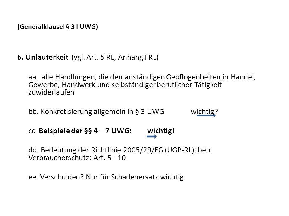 IV.Systematische Besonderheiten 1. Kein Schutzgesetz i.S.