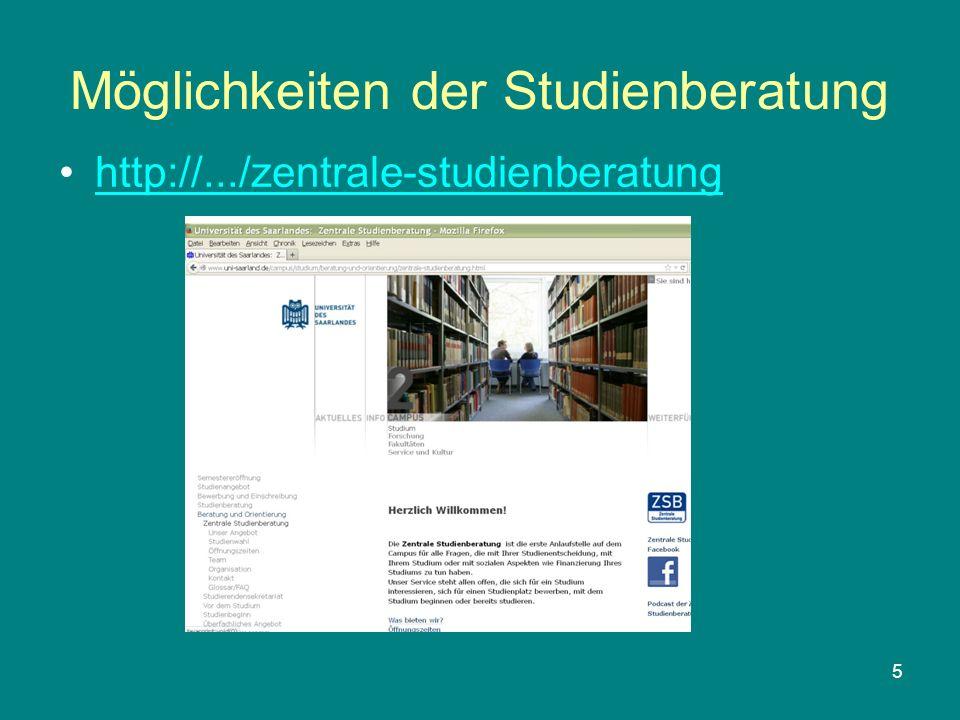 5 Möglichkeiten der Studienberatung http://.../zentrale-studienberatung