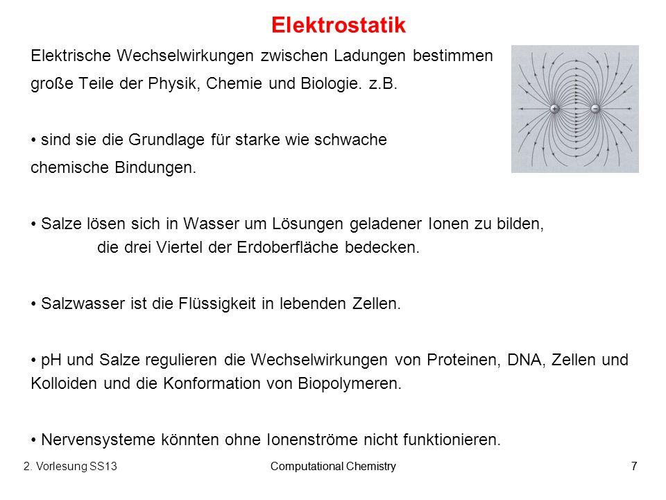 Computational Chemistry38 Für ein Edelgas (einatomig) kommen nur translatorische Bewegungen als Ursache für die kinetische Energie in Frage.