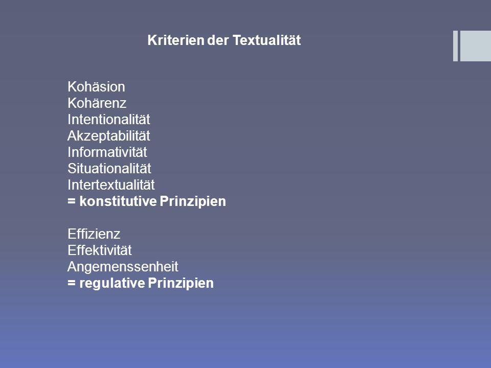 Vieweger: Dynamisches Textmodell 1.Sprachliches Wissen 2.Enzyklopädisches Wissen 3.Illokutionswissen 4.Handlungswissen Enzyklopädisches Wissen: a)Horizontale propositionale Integration: z.B.