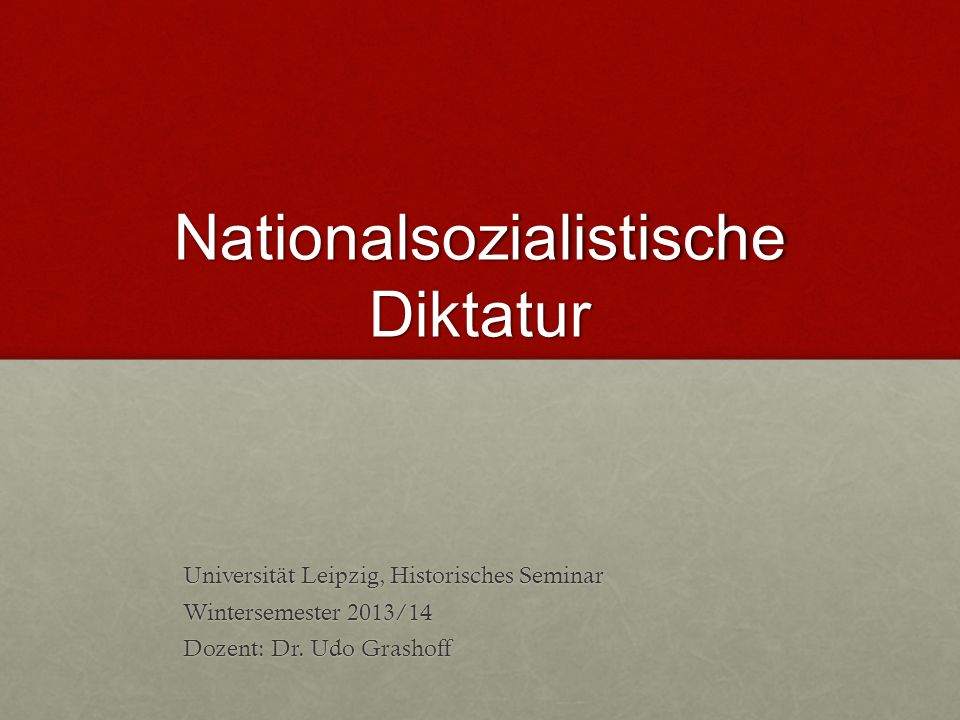 Nationalsozialistische Diktatur 11.NS-Täterforschung 2.1 Milieuprägung - -tw.