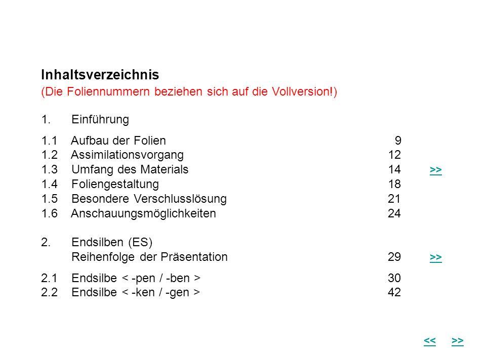 Inhaltsverzeichnis (Die Foliennummern beziehen sich auf die Vollversion!) 1. Einführung 1.1 Aufbau der Folien 9 1.2 Assimilationsvorgang 12 1.3 Umfang