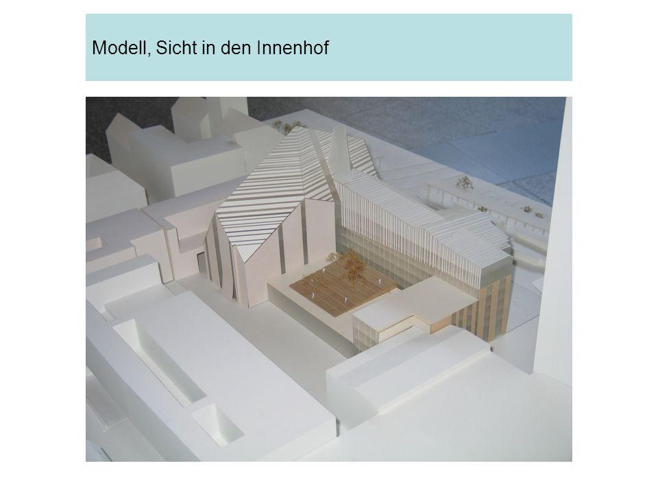 Modell, Sicht in den Innenhof