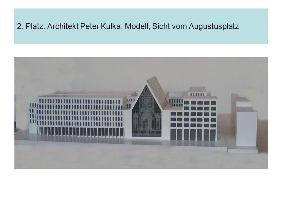 2. Platz: Architekt Peter Kulka; Modell, Sicht vom Augustusplatz