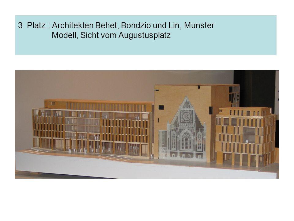 3. Platz.: Architekten Behet, Bondzio und Lin, Münster Modell, Sicht vom Augustusplatz