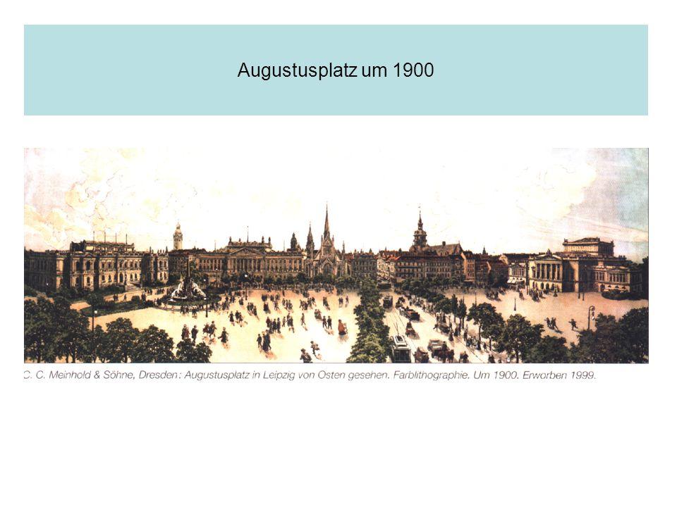 Augustusplatz um 1900
