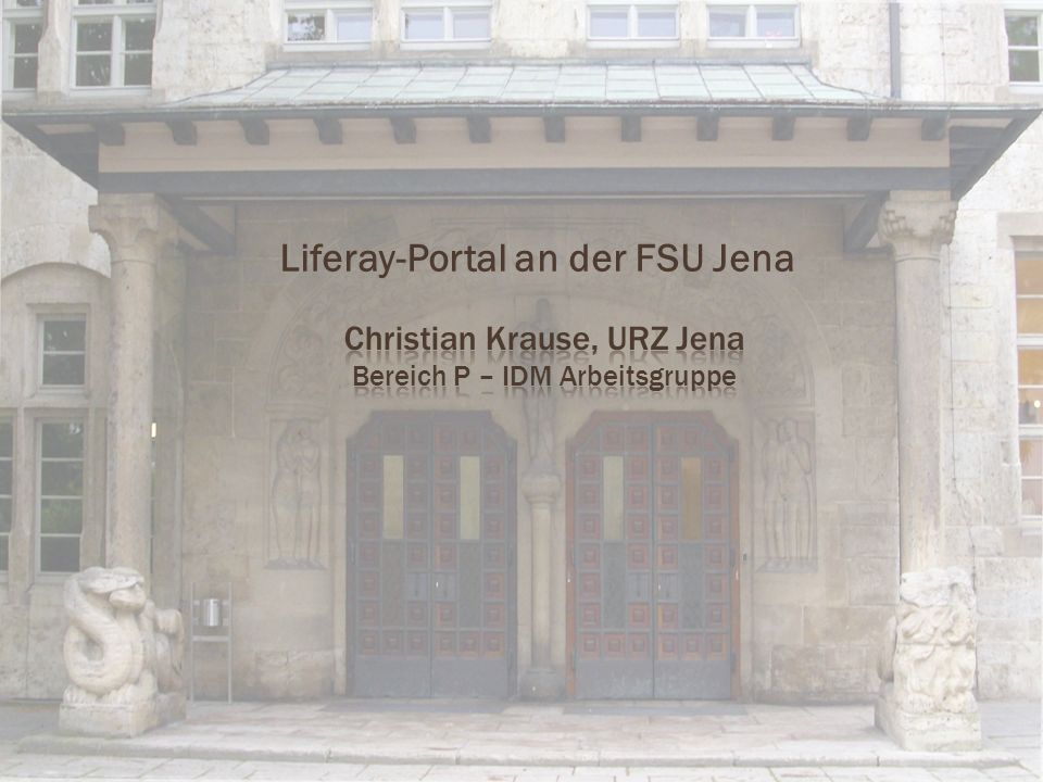 Liferay-Portal an der FSU Jena