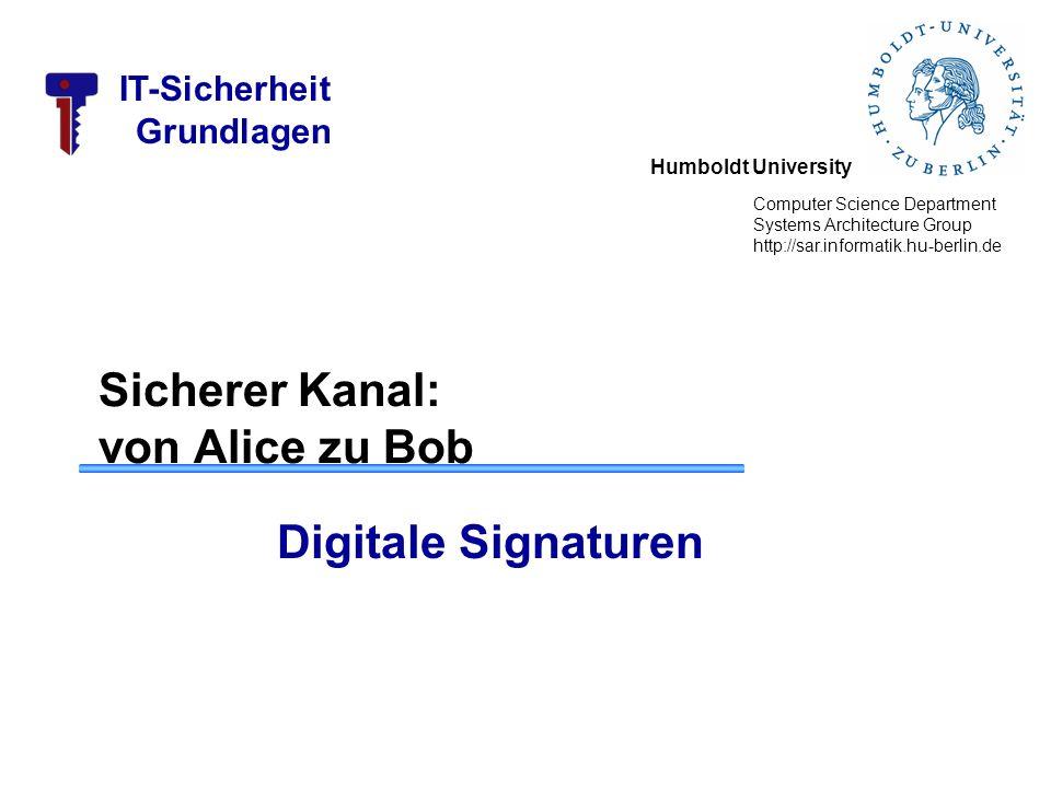 IT-Sicherheit Grundlagen Example – Compare to El Gamal –The ciphertext is a pair of points P C = [ (kB), (P M + kP B ) ] –The ciphertext in El Gamal is also a pair.