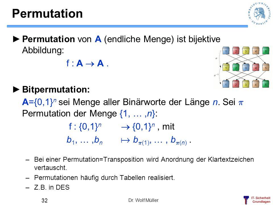 IT-Sicherheit Grundlagen Substitution Gegeben 2 Alphabete A 1, A 2.