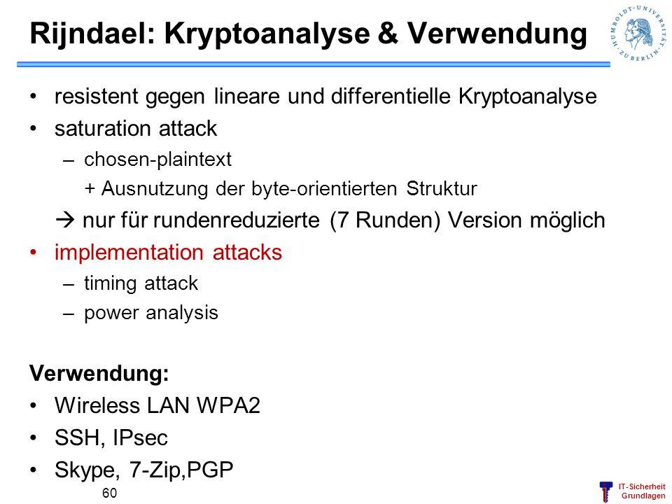 IT-Sicherheit Grundlagen Demo in Crypttool http://www.cryptool.de/ Dr. Wolf Müller 61