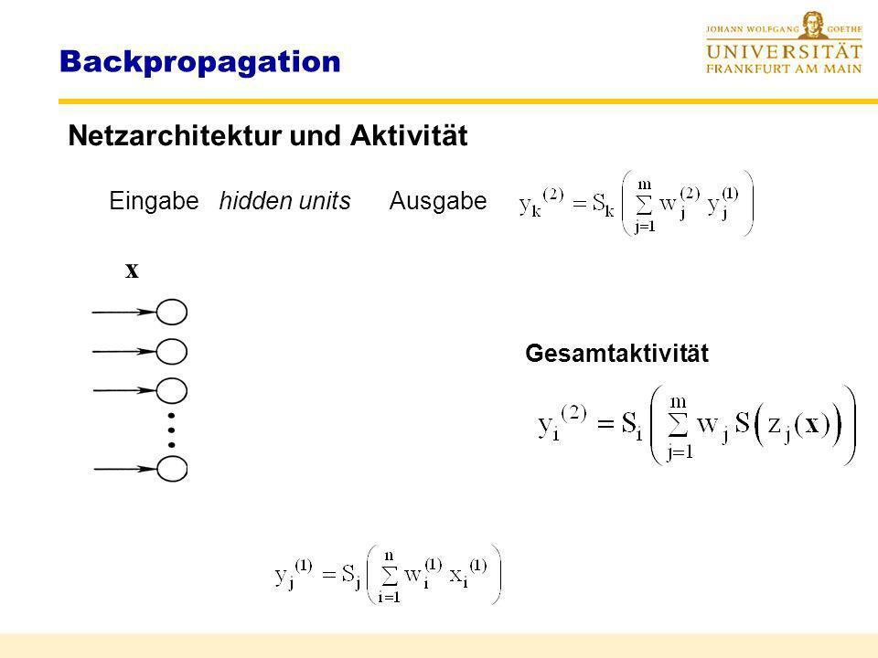 Rüdiger Brause: Adaptive Systeme AS-2 WS 2011 Lernen und Zielfunktionen Lernen linearer Klassifikation Stochast. Klassifizierung Lernen in Multilayer-