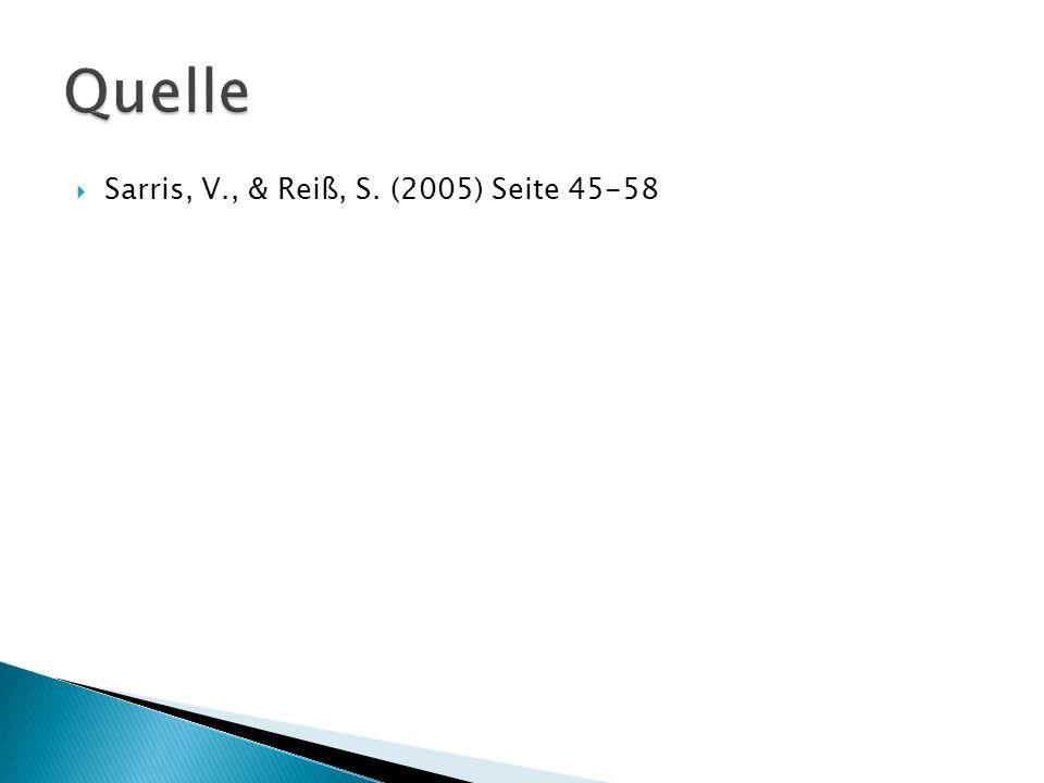 Sarris, V., & Reiß, S. (2005) Seite 45-58