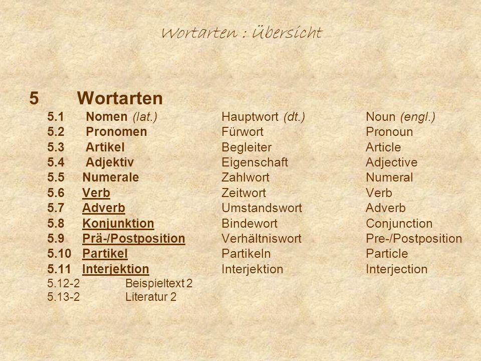 Wortarten : Partikeln (1) Gradpartikeln (Intensität) - dt.