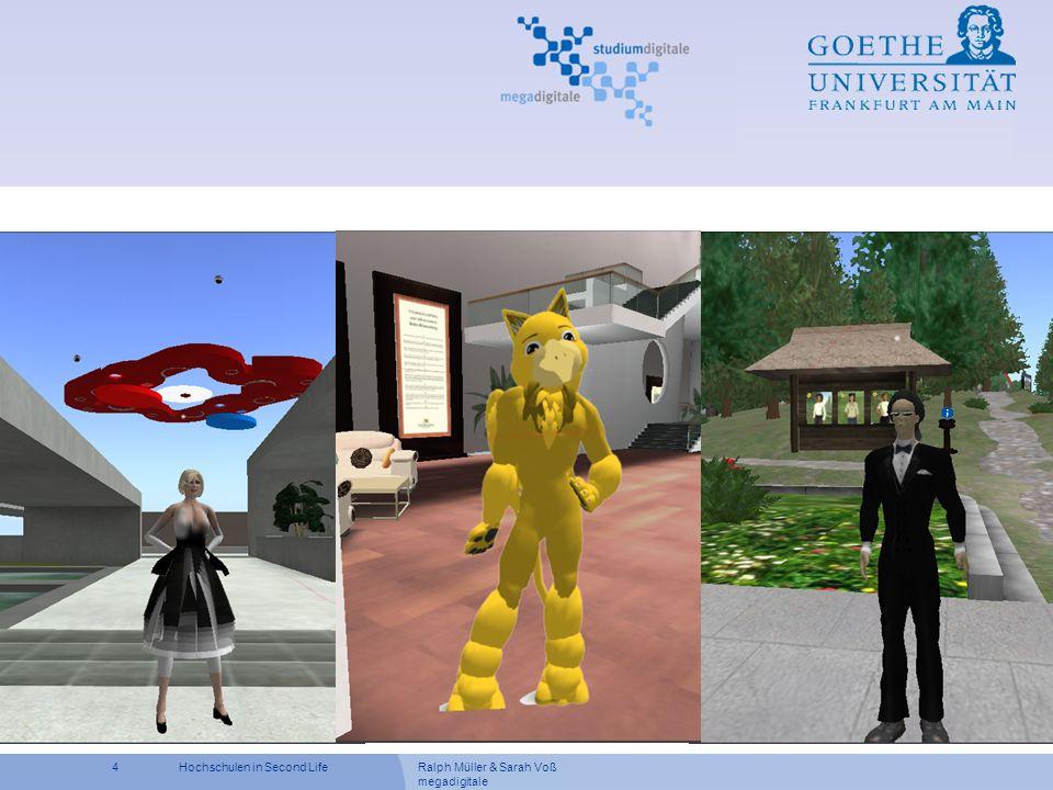 Ralph Müller & Sarah Voß megadigitale 15Hochschulen in Second Life Veranstaltung IT-Projektmanagement WS 07/08 Dr.-Ing.
