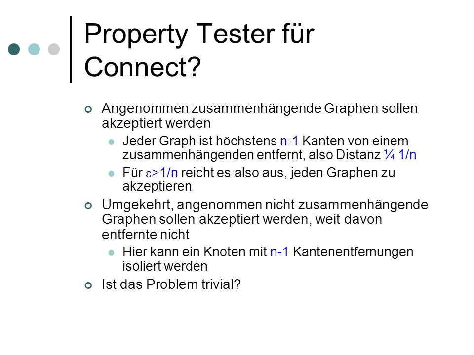 Property Tester für Connect.
