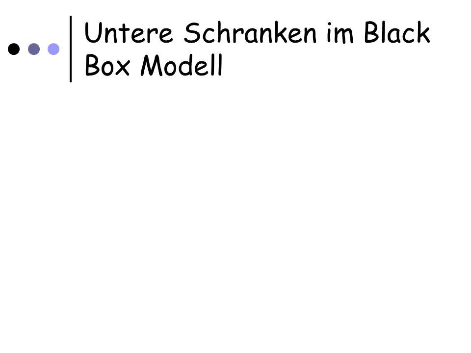 Untere Schranken im Black Box Modell