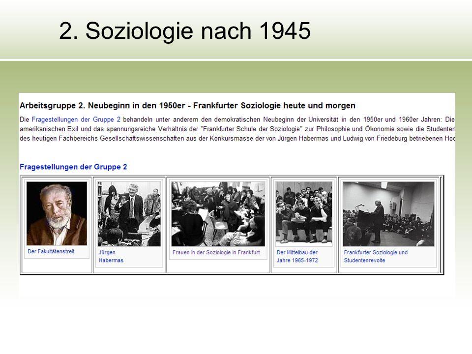 2. Soziologie nach 1945