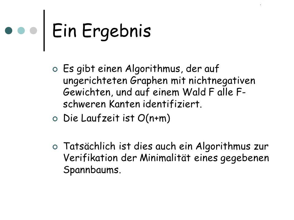 Der randomisierte Algorithmus 1.Eingabe: ungerichteter Graph G mit Gewichten W 2.