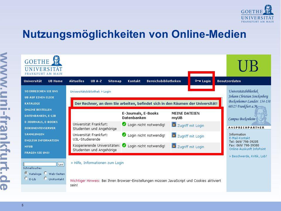 5 Nutzungsmöglichkeiten von Online-Medien